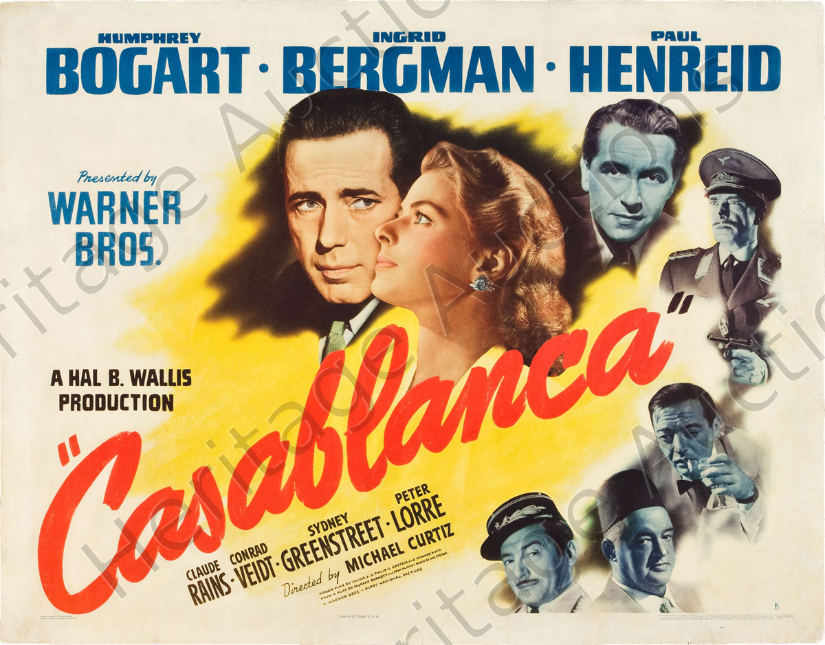 Top 10 romantic movies terrific top 10 for Poster casablanca