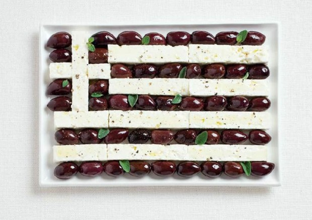 Greek Food Flag