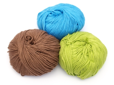 colorful yarn from bamboo-cotton